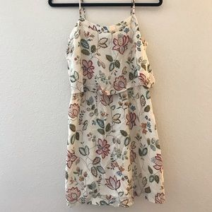 Madewell Cream Floral Dress